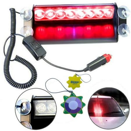 Gossen Flash Meter (HQRP Car 8-LED Emergency Vehicle Dash Warning Strobe Flash Light 12V 8 Red LEDs 4x4 Type plus HQRP UV)
