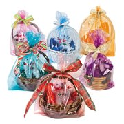 Cellophane Basket Bag Assortment (6Dz) - Party Supplies - 72 Pieces