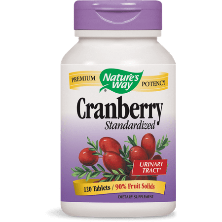Green Beaver Cranberry (Nature's Way Cranberry Standardized Urinary Tract Tablets, 120)