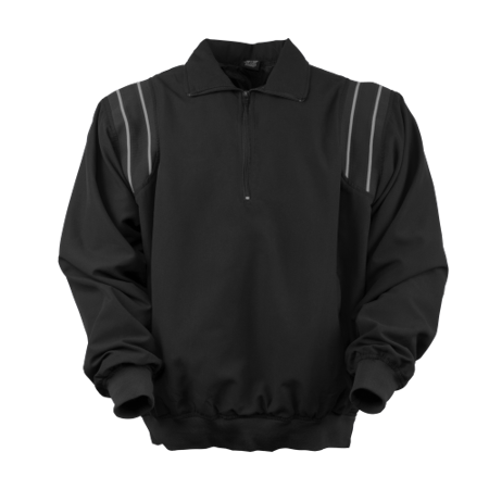 3N2 7200-01-XL Umpire Half-Zip Jacket, Black - Extra Large Focus on the count and not on staying warm with the 3N2 Umpire Half Zip Jacket. This zippered pullover features a micro-fiber shell and offers stand-up collar, Nylon lining, side seam pockets, elastic waistband and contrasting rib knit over the shoulders. Oversized, comfortable fit for easy layering.