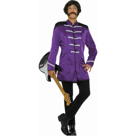 Mens Purple 60s British Explosion Beatles Sgt Peppers Band Jacket Costume 42-44