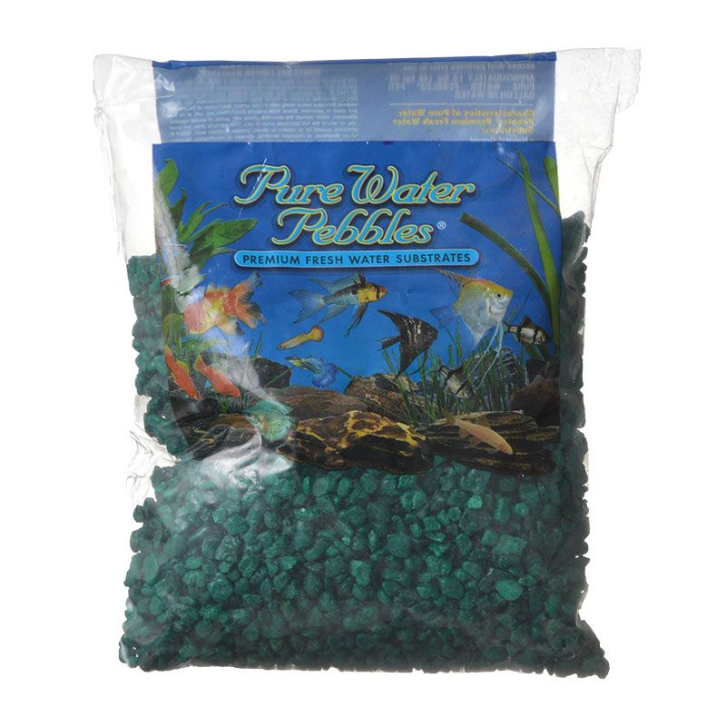 Pure Water Pebbles Aquarium Gravel - Emerald Green 2 lbs (3.1-6.3 mm Grain) - Pack of 10