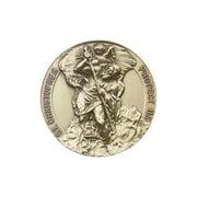 Antique Gold St. Christopher Visor Clip