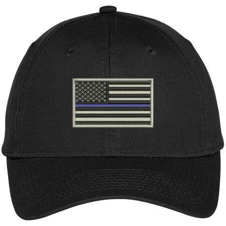 Trendy Apparel Shop Us American Flag Thin Blue Line Police
