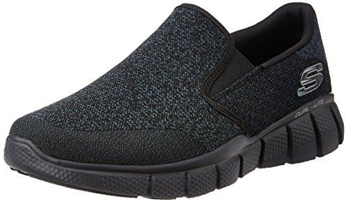51521 Black Skechers Shoes Men's Memory Foam Comfort Slip On Casual Mesh Sneaker by Skechers