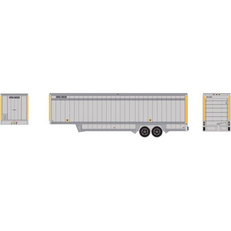 Athearn HO Scale 40' Drop Sill Parcel Intermodal Trailer UPS/Yellow Stripe 80539
