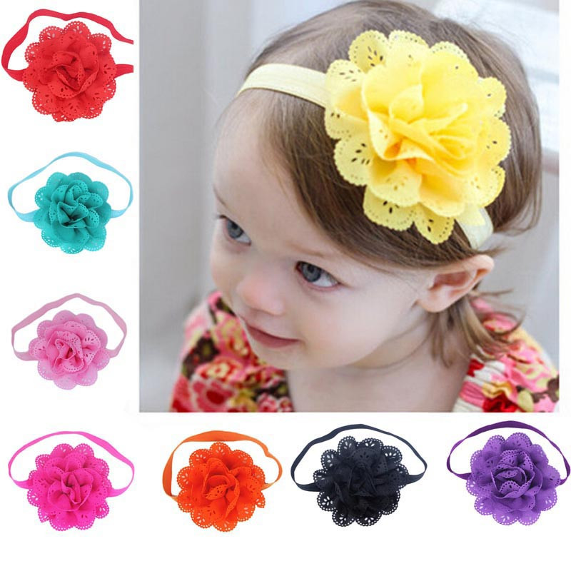 Outtop 8Pcs Baby Girls Flower Headbands Photography Props Headband Accessories
