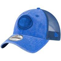 Detroit Pistons New Era Tonal Washed Trucker 9TWENTY Adjustable Snapback Hat - Blue - OSFA