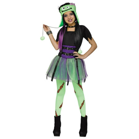 Green Baby Frankie Monster Frankenstein Girls Halloween Costume](Funny Baby Girl Halloween Costumes)