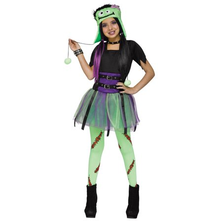 Green Baby Frankie Monster Frankenstein Girls Halloween Costume - Toddler Baby Girl Halloween Costumes