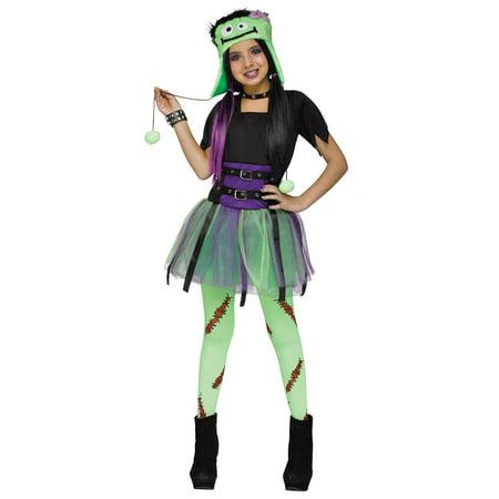 Green Baby Frankie Monster Frankenstein Girls Halloween Costume - Baby Girl Flower Halloween Costume