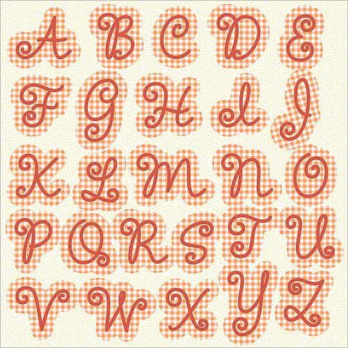 Hampton Art 28616 Sweet Tart Monogram Cardstock Stickers 12''X12'' Sheets 2/Pkg-Glitter Accents