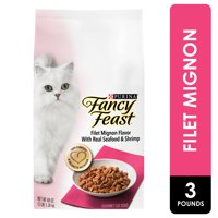 Fancy Feast Dry Cat Food, Filet Mignon Flavor With Real Seafood & Shrimp, 3 lb. Bag