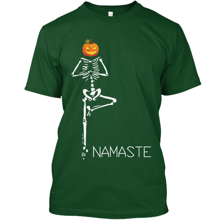 HALLOWEEN YOGA -Skeleton Tree Pose 2017 Hanes Tagless Tee