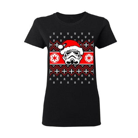 Shipping Wars Women (Star Wars Pardoy Santa Darth Vader Women's T-shirt Black)
