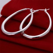 Rubique 18K White Silver Hooped Style No. 3 Earring