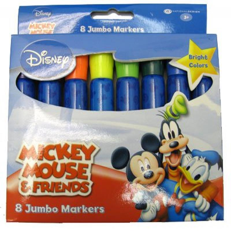 Disney Mickey & Minnie Mouse Jumbo Markers 8 Pack by