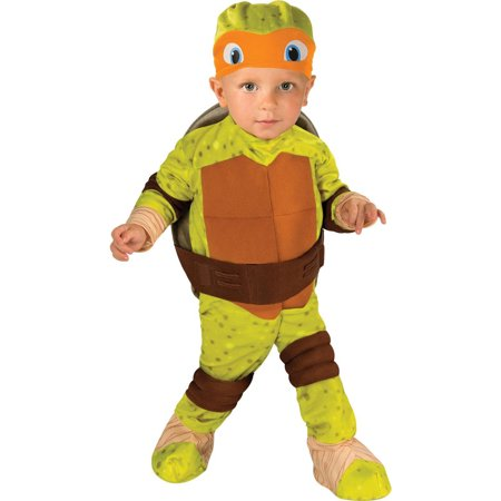 Michelangelo Ninja Turtle Costume (Teenage Mutant Ninja Turtle Michelangelo Toddler Halloween Costume,)