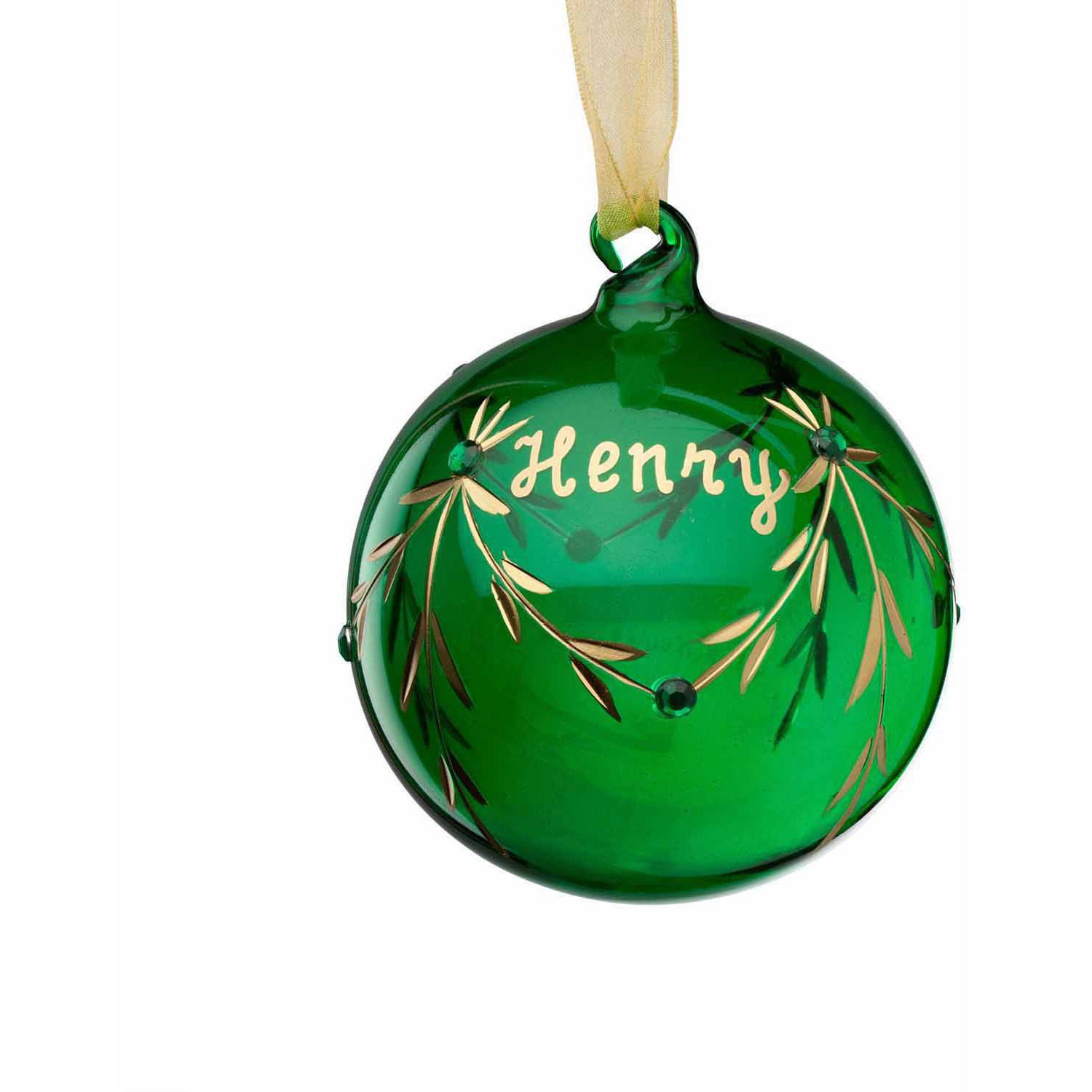 Personalized Glass Birthstone Christmas Ornament - May ...
