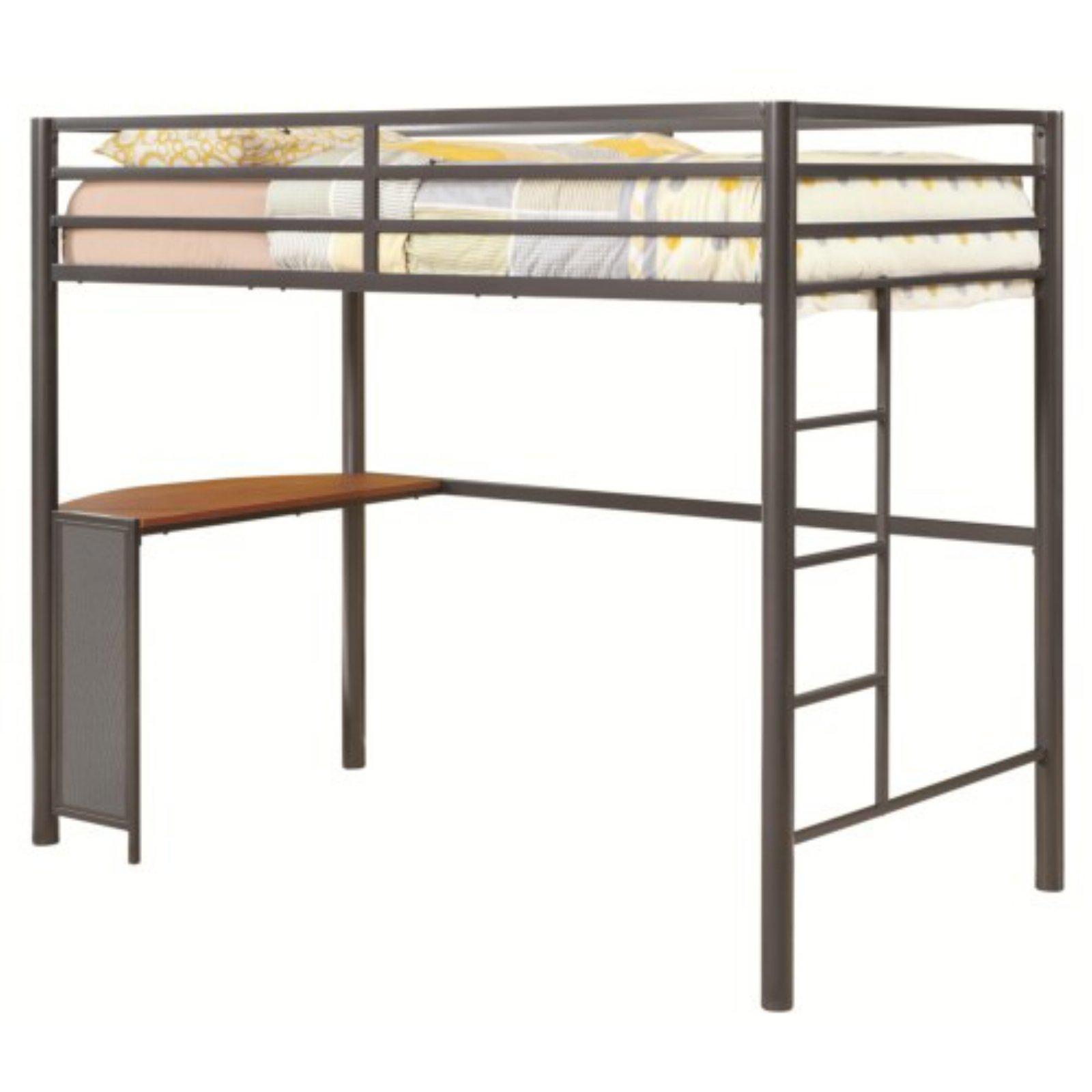 Coaster Furniture Bunks Twin Metal Workstation Loft Bed - Dark Gun Metal
