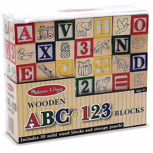 Melissa & Doug Wooden ABC/123 Blocks