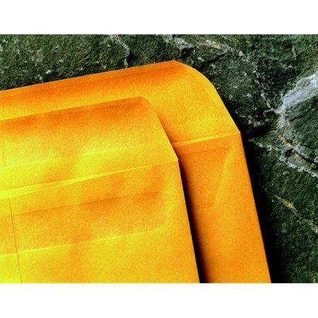 - School Smart 085018 Grip Seal Open End Self-Sealing Catalog Envelope - 9 x 12 In. - Kraft, White & Brown, Pack Of 100
