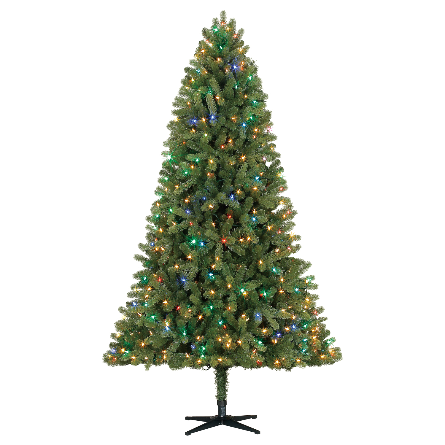 Holiday Time Pre-Lit 7.5\' Whitefield Fir Artificial Christmas Tree ...