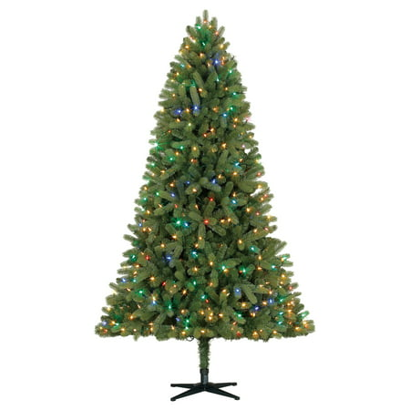 holiday time pre lit 75 whitefield fir artificial christmas tree color show lights - Christmas Tree Pre Lit