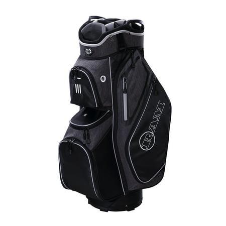 Ram Golf Tour Cart Bag with 14 Full Length Dividers - Divider Golf Cart Bag