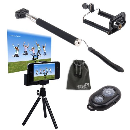 eeekit selfie stick mini tripod stand remote shutter for cell phone samsu. Black Bedroom Furniture Sets. Home Design Ideas