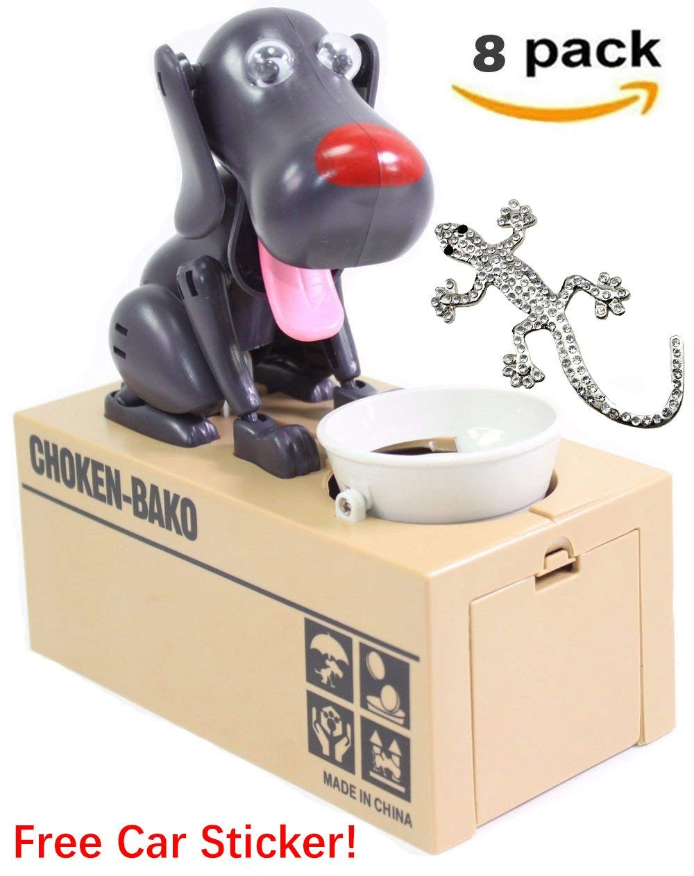 [ Set of 8] Robotic Dog Money Box Automatic Stole Coin Piggy Bank Money Saving Box -D by Smiling JuJu