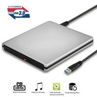 TSV External CD DVD Drive, Portable USB 3.0 CD DVD Burner Player Compatible for Windows10/7/8, Laptop, Mac, MacBook Serious, PC