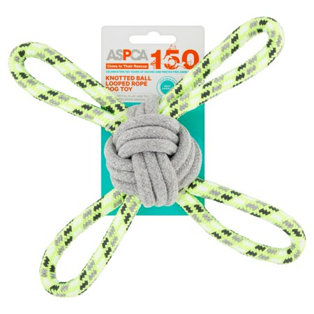 (2 Pack) ASPCA Knotted Ball Looped Rope Dog Toy