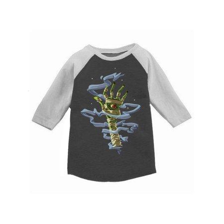 Awkward Styles Halloween T-Shirt for Girls Boys Mummy Hand Toddler Raglan Shirt ()