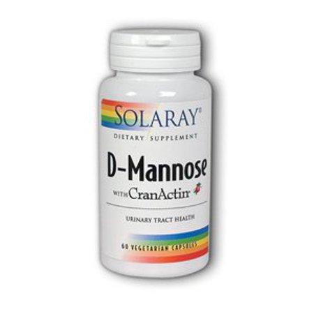 D-mannose avec CranActin Solaray 60 vcaps