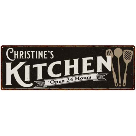 Christine S Personalized Kitchen Sign Chic Wall Decor Gift Mom 6x18 206180014046