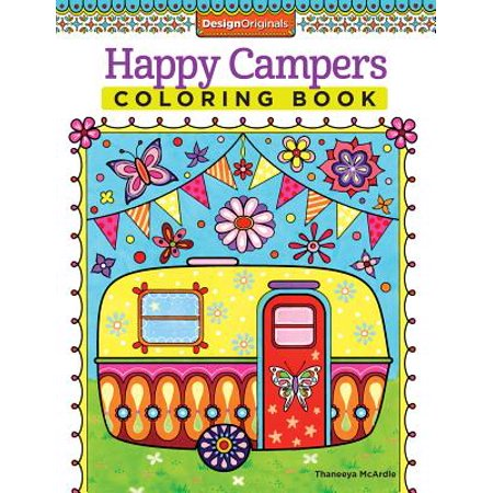 Happy Campers Coloring Book - Cute Happy Halloween Coloring Pages