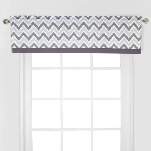 Bacati Mix N Match Zig Zag Curtain Valance by