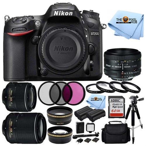 UNASSIGNED Nikon D7200 DSLR w 18-55 VR II & 55-200 VR II ...