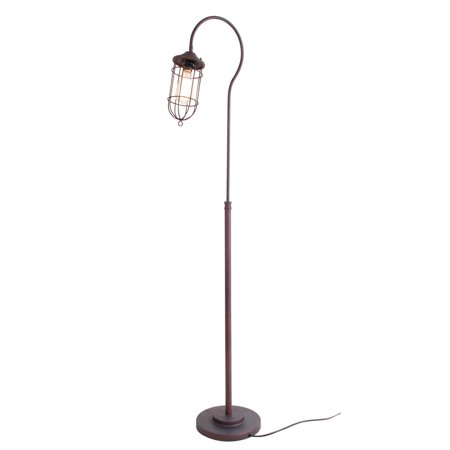 Normande lighting cage style floor lamp walmartcom for Normande rustic floor lamp