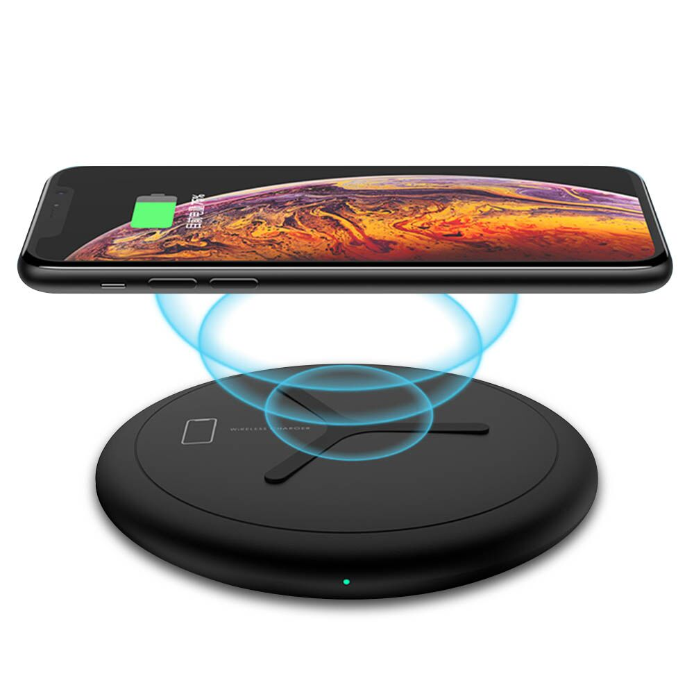 For iPhone Wireless Charger,All Qi-Enabled Devices Fast Charge for Samsung Wireless Charging Pad,for Apple Watch Smart Watch (Series 1,2,3, 4),Black