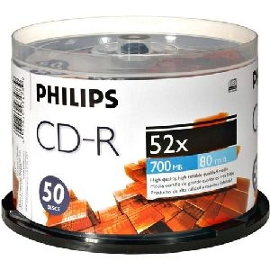 Philips D52n600 700MB 80-Min 52x CD-Rs, 50-ct Spindle