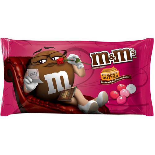M&M's, Peanut Butter Chocolate Candy Valentine's Day, 11.4 Oz