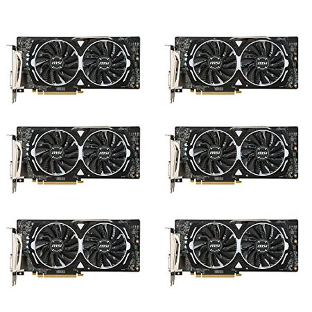 6 Packs Of Msi Vga Graphic Cards Rx 580 Armor 4G Oc For For Crypto Coin Eth Ethereum Zcash Zec Bitcoind