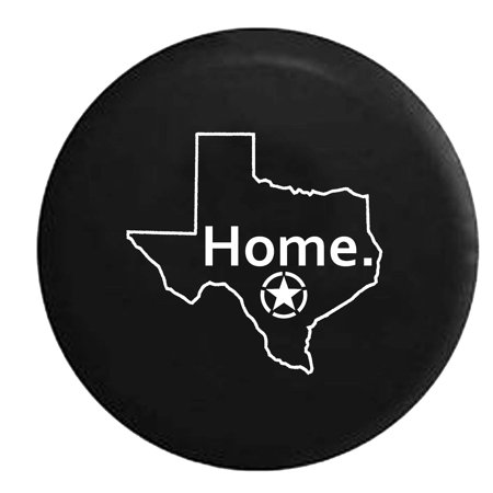 State of Texas Oscar Mike Military Sniper Home Edition Trailer Spare Tire Cover Black 27.5 in