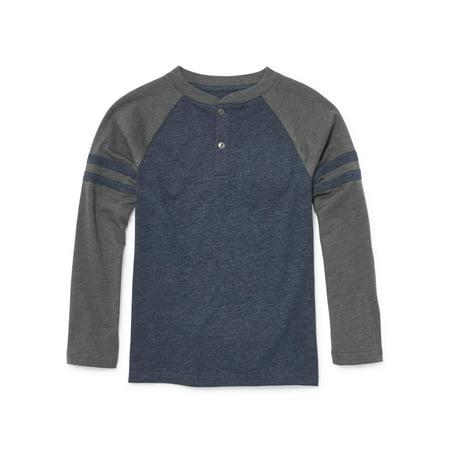 Long Sleeve Raglan Henley Tee Shirt (Little Boys & Big Boys)