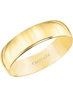 Men S Keepsake 10kt Yellow Gold Wedding Band With High Polish Finish