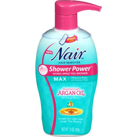 Nair Shower Power Max with Moroccan Argan Oil, Cream for Legs & Body 13 oz (Pack of (Nair Hair Remover Shower Power Max Reviews)