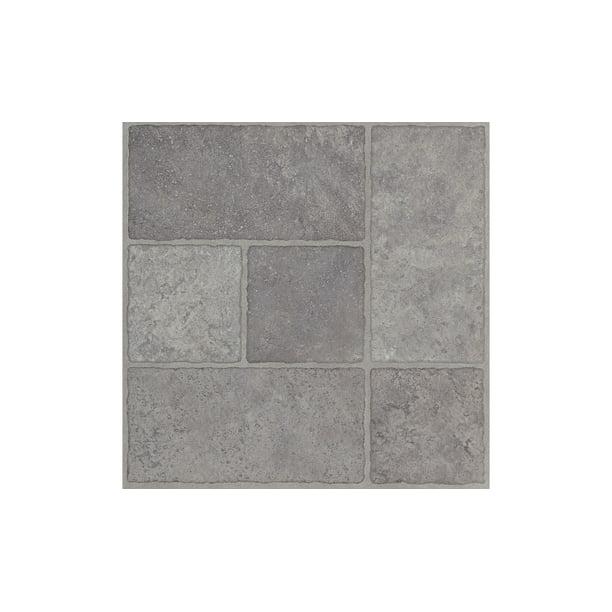 Armstrong Flooring 12 X 12 Vinyl Floor Tile 45 Sf Pack Gray Cloud Walmart Com Walmart Com