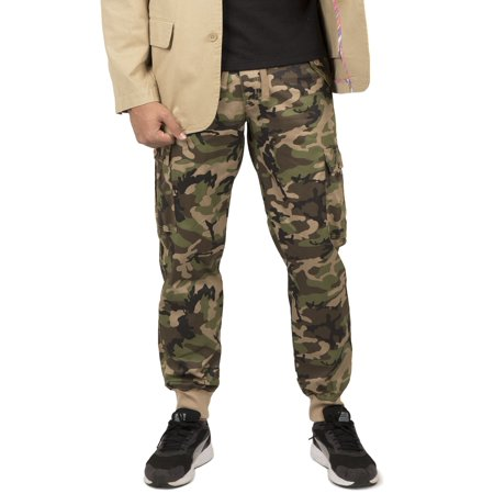 Camouflage Cargo Pants (vibes gold label men's military camo print twill cargo pocket jogger pants)